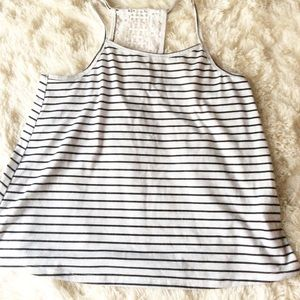 Girls' Black and white tank top